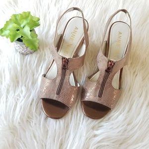 Anne Klein Flex Akedian Wedge Sandals Size 8 1/2
